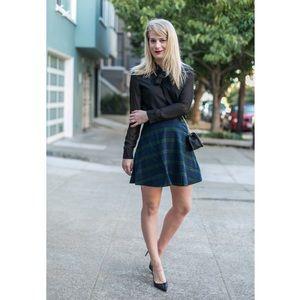 Old Navy Blackwatch Plaid Circle Mini Skirt